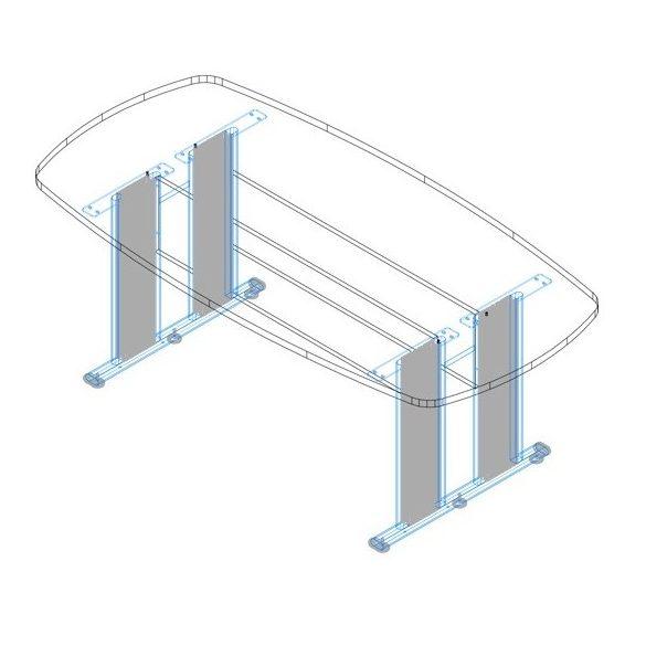 TSZ-200/100 AVA fémlábas tárgyalóasztal