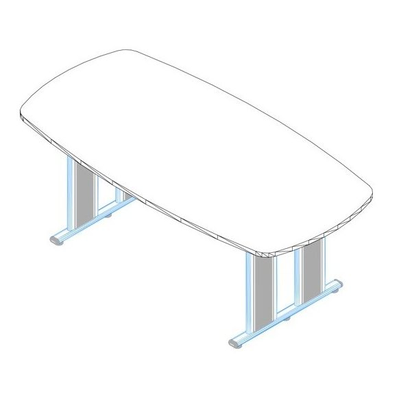 TSZ-260/100 AVA fémlábas tárgyalóasztal