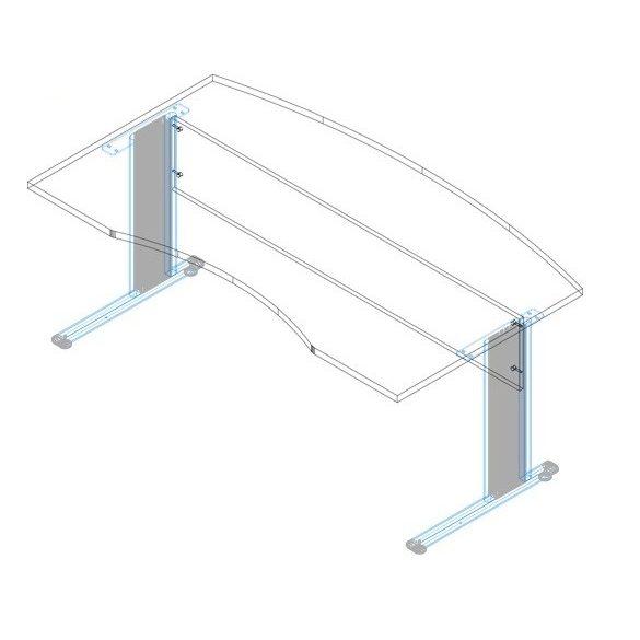 VA-180/100 fémlábas vezetői íróasztal