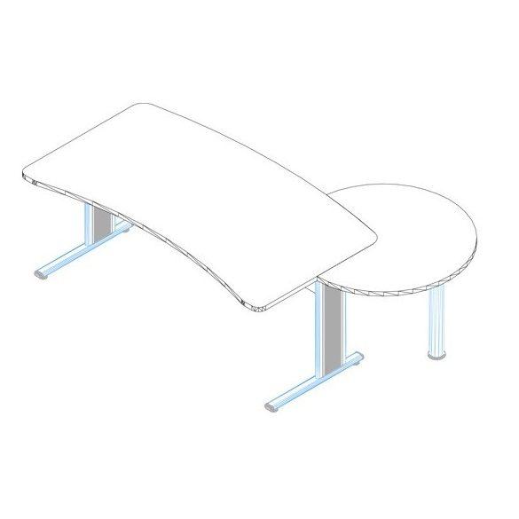 VD-180/100 fémlábas vezetői íróasztal összeállítás