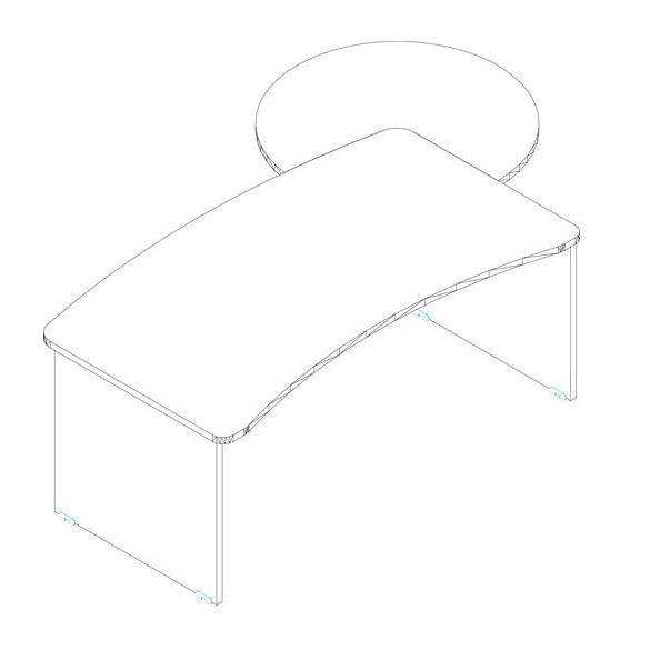 VD-180/100 vezetői íróasztal összeállítás