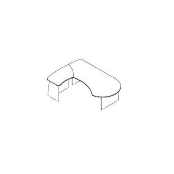 VE-227/160 vezetői íróasztal balos kivitelben