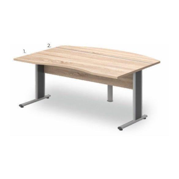 VO-180/90 fémlábas vezetői íróasztal összeállítás