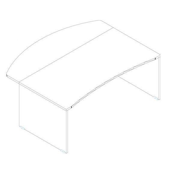 VP-180/90 vezetői íróasztal összeállítás