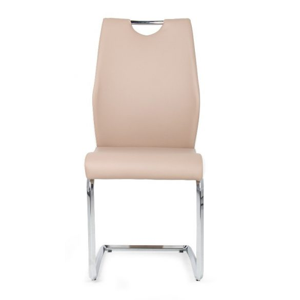 D - Adél krómvázas szék bézs műkőr kárpittal