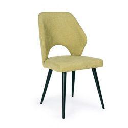 D - Aspen fekete színű fémvázas szék zöld szövettel