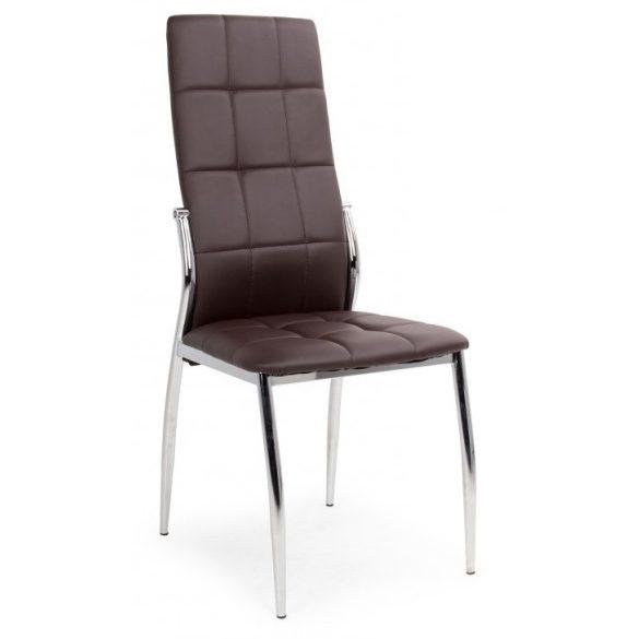 D - Boris krómvázas szék barna műbőr kárpittal
