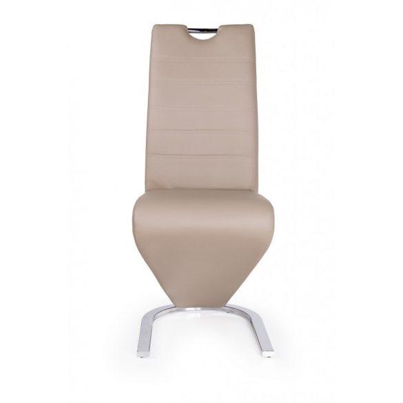 D - Lord szánkótalpas szék krómozott lábakkal és bézs műbőrrel