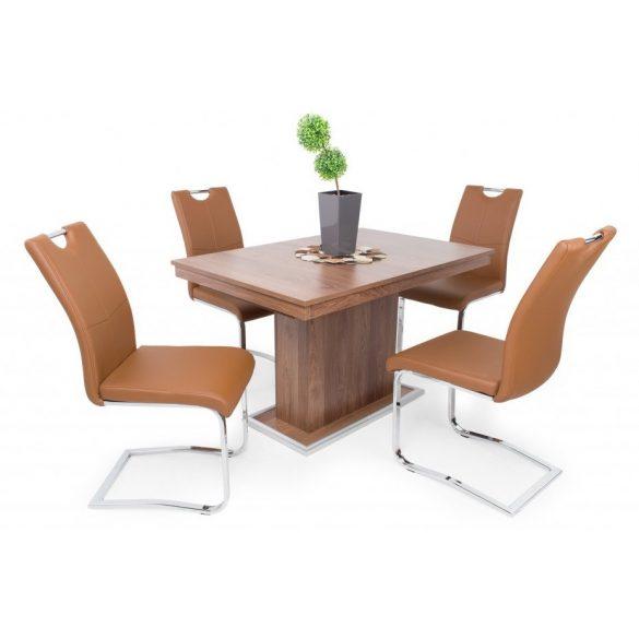 D - Mona szánkótalpas krómvázas szék barna műbőrrel