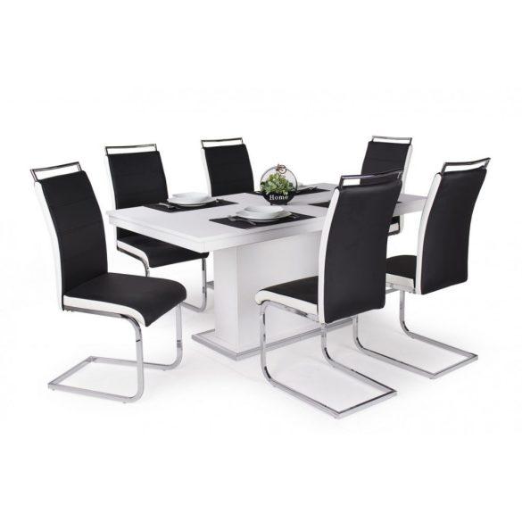 D - Szava szánkótalpas krómvázas szék fekete műbőrrel