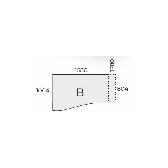 EX GN 158/100 íróasztal balos kivitelben