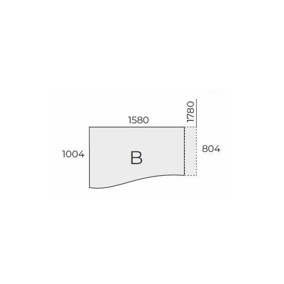 EX GN 178/100 fémlábas íróasztal jobbos kivitelben