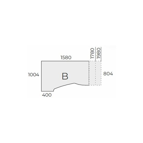 EX HA 158/100 fémlábas íróasztal balos kivitelben