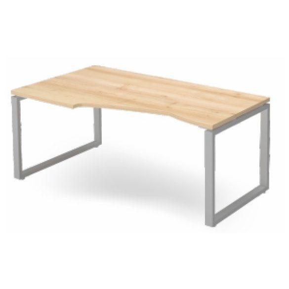EX HB 178/100 fémlábas íróasztal balos kivitelben