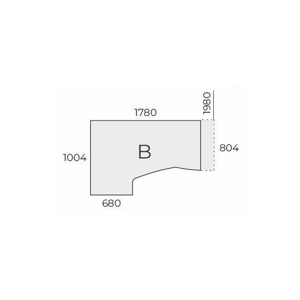 EX HB 198/100 fémlábas íróasztal balos kivitelben