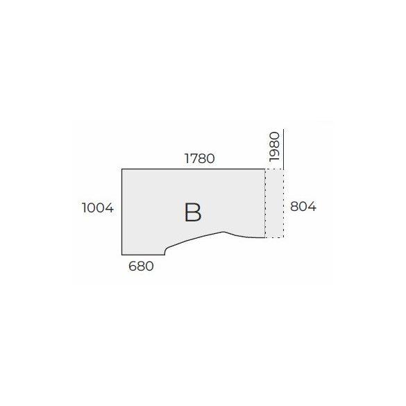 EX HB 198/100 fémlábas íróasztal jobbos kivitelben