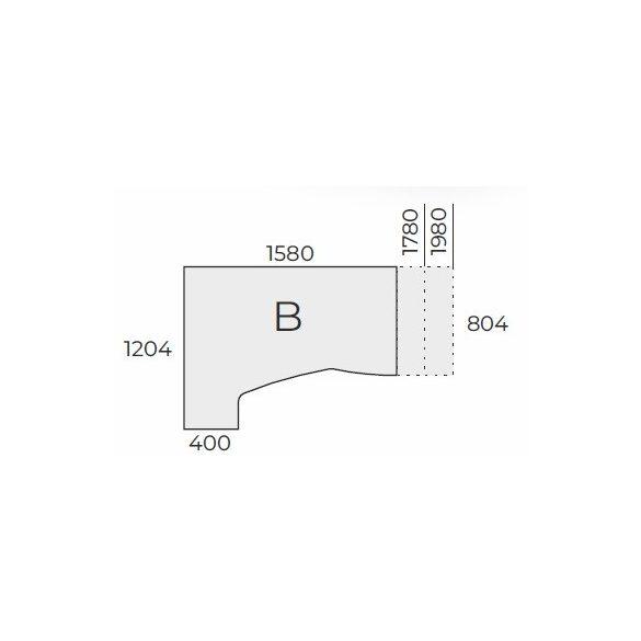 EX HC 158/120 íróasztal balos kivitelben