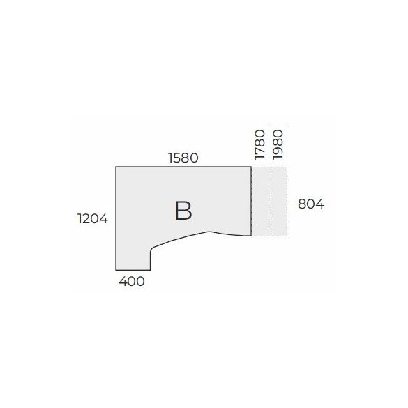 EX HC 158/120 fémlábas íróasztal balos kivitelben