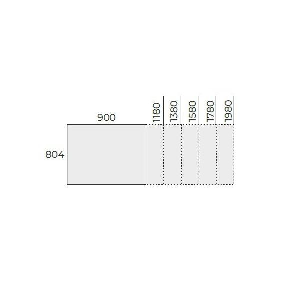 EX IS 138/80 fémlábas íróasztal