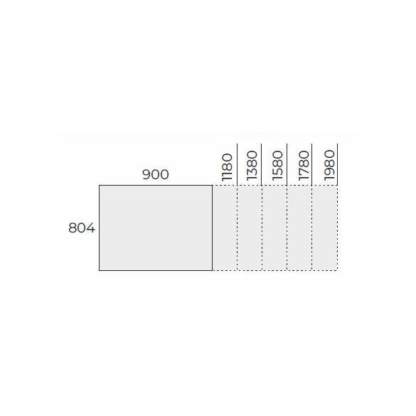 EX IS 178/80 íróasztal