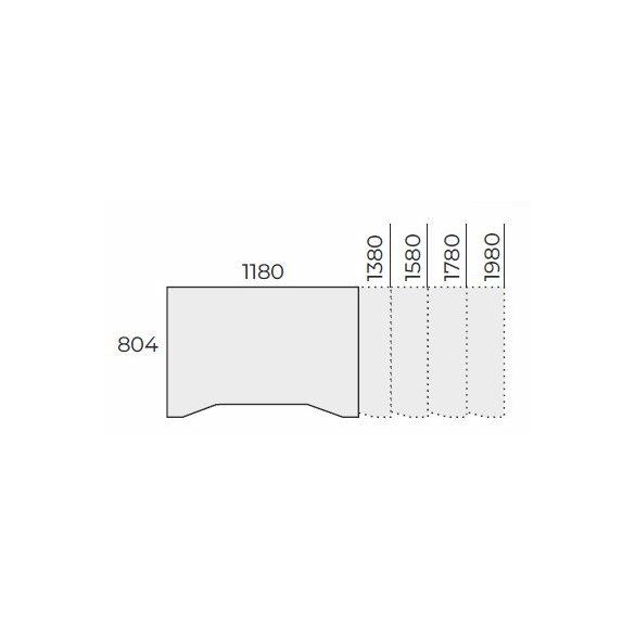 EX IZ 158/80 fémlábas íróasztal