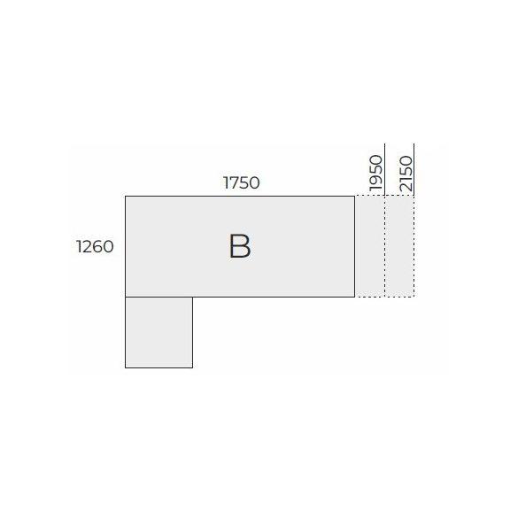 EX KOM 158 FL2 típusú fémlábas vezetői munkahely balos kivitelben