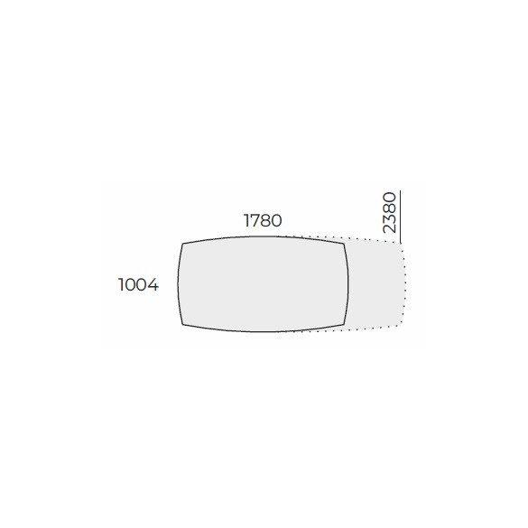 EX TB 238/100 íves laplábas tárgyalóasztal