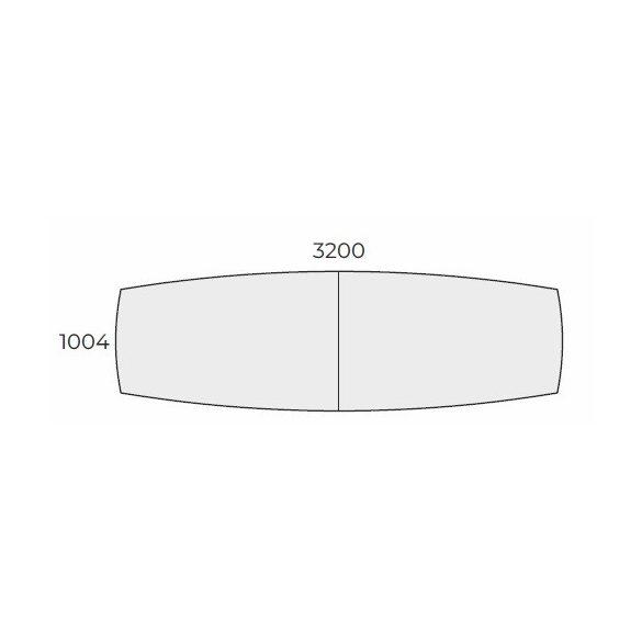 EX TB 320/100 íves laplábas tárgyalóasztal