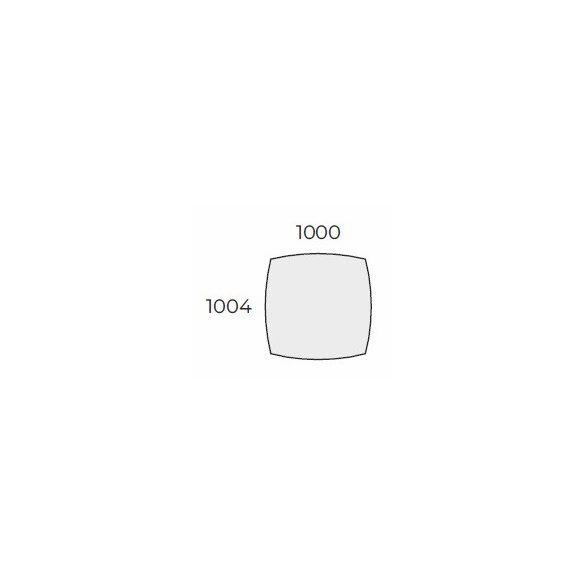 EX TBK 100/100 íves laplábas tárgyalóasztal