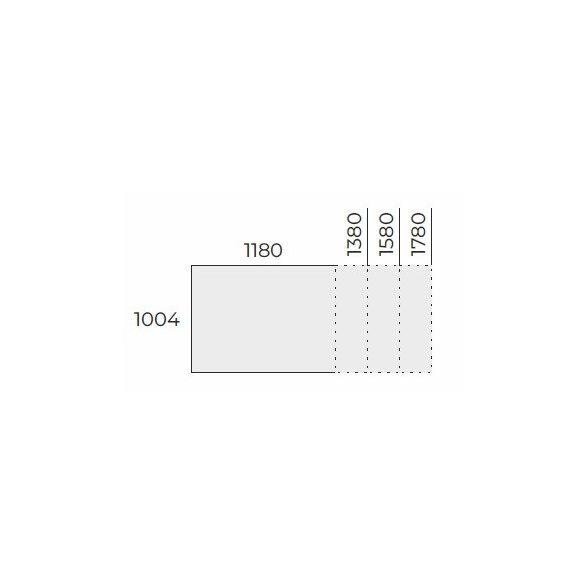 EX TC 118/100 FL1 típusú fémlábas tárgyalóasztal