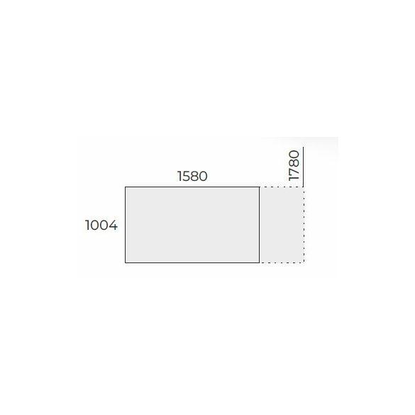 EX TC 158/100 FL2 típusú fémlábas tárgyalóasztal