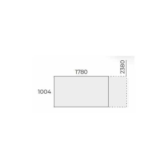 EX TC 178/100 szögletes laplábas tárgyalóasztal