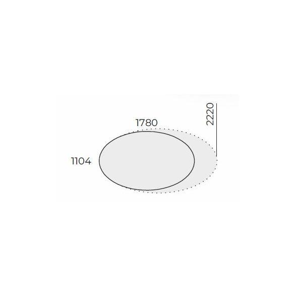 EX TD 220/120 ovális laplábas tárgyalóasztal