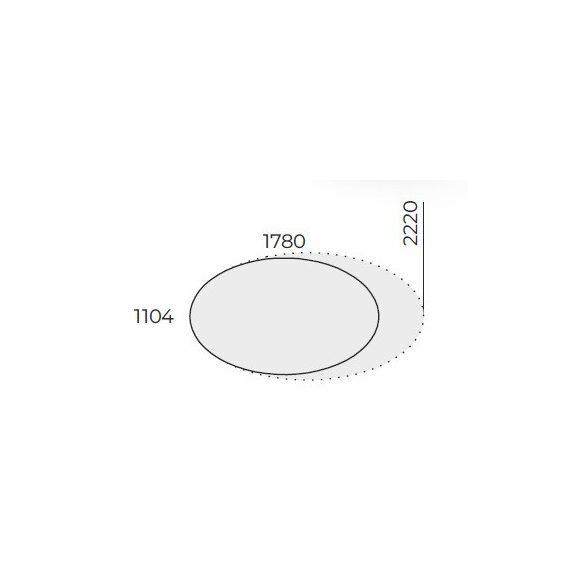 EX TDK 178/110 ovális laplábas tárgyalóasztal