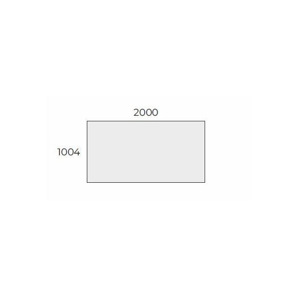 EX TIG 200/100 szögletes laplábas tárgyalóasztal