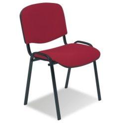 T - ISO fekete vázas szék - szövet kárpittal
