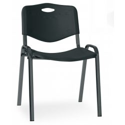 T - ISO fekete vázas műanyag szék