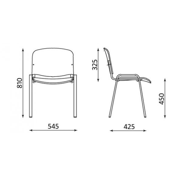 T - ISO fa szék
