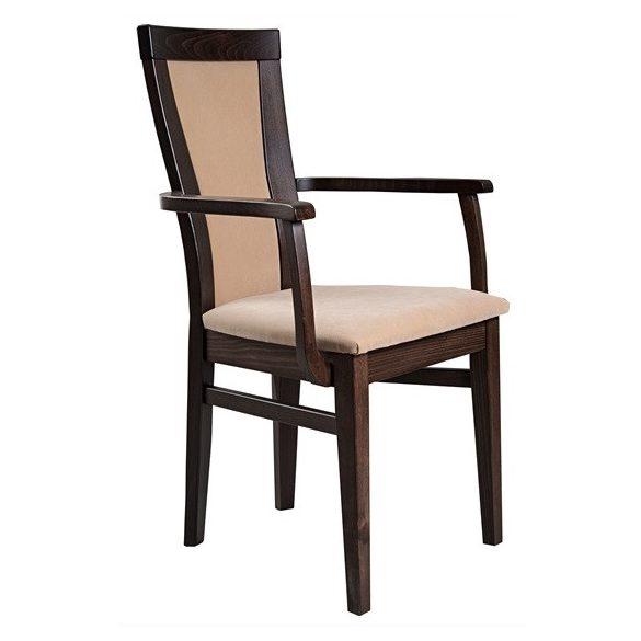 J - Petra tömörfa karfás szék választható kárpittal