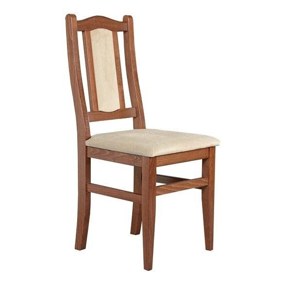 J - Varia támlás tömörfa szék választható kárpittal