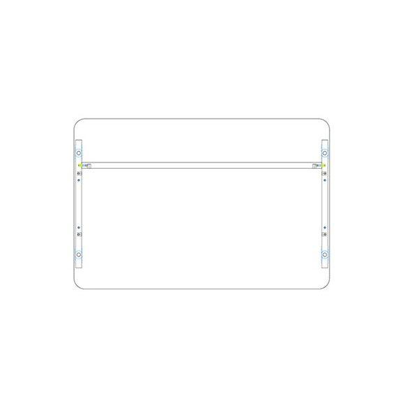 KK 120/80 íróasztal mindkét oldalt kerekített éllel