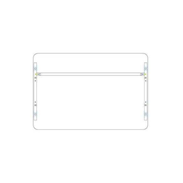KK 140/80 íróasztal mindkét oldalt kerekített éllel