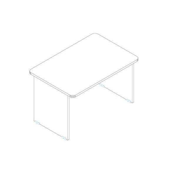 KK 160/80 íróasztal mindkét oldalt kerekített éllel