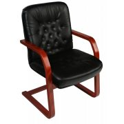 L - Viktoria  káró visitor wood szánkótalpas szék