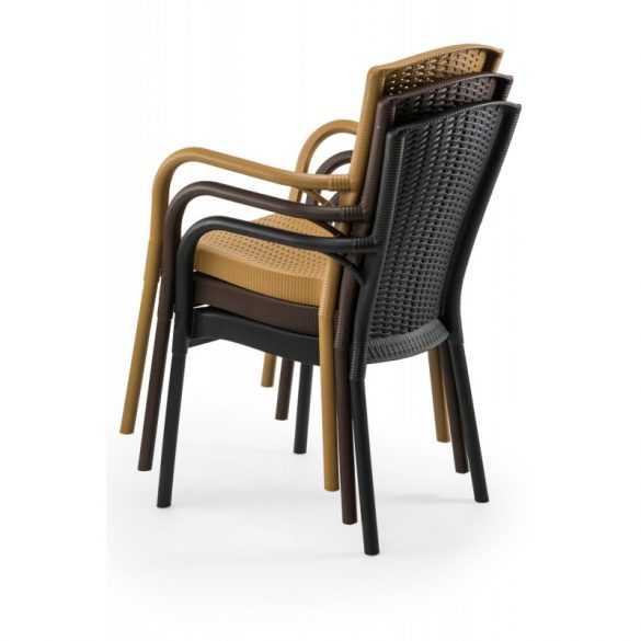 M - Andrea kültéri szék - fekete színben
