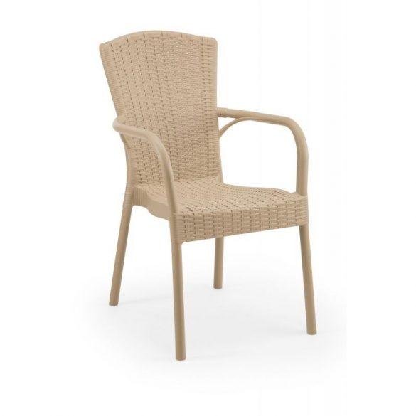 M - Andrea kültéri szék - tejeskávé színben