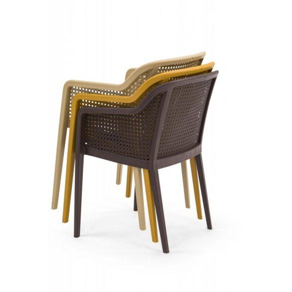 M - Carlo kültéri szék - beige színben