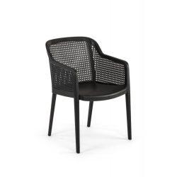 M - Carlo kültéri szék - fekete színben