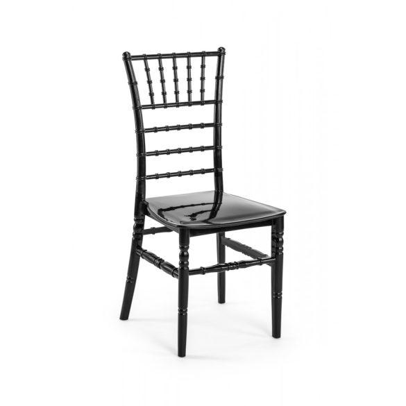 M - Chiavari esküvői szék - fekete színben