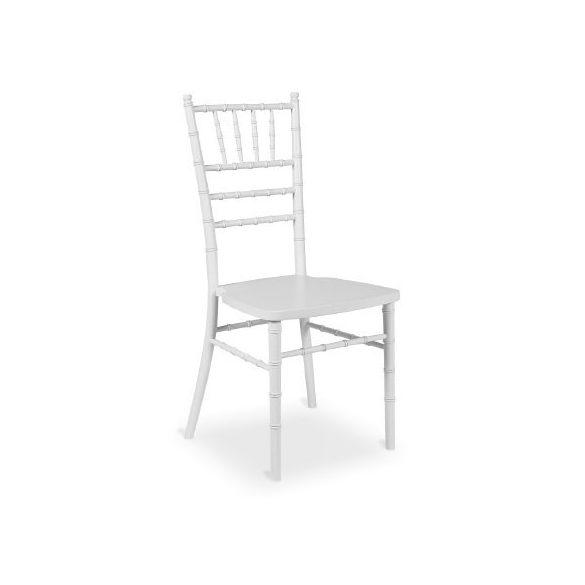 Chiavari Tiffany fa esküvői bankett szék fehér színben